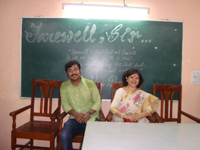 Farewell of Sri. Arijit Mukherjee, Lecturer, Department of English (Post Graduate Section).