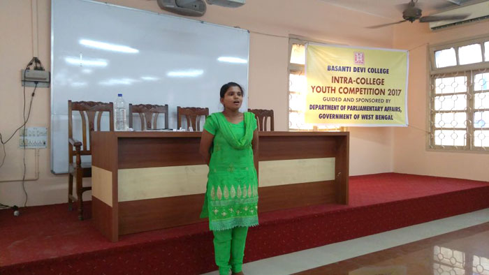 ​Intra-College Youth Parliament, Quiz and Debate Competition 2017.