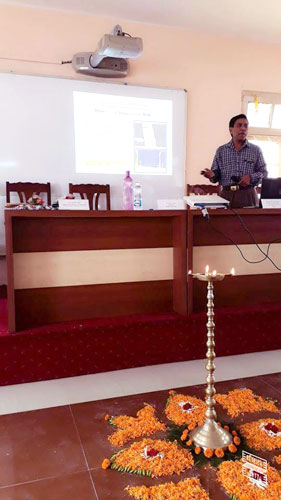 ​​Seminar, organised by Department of Physics, at Basanti Devi College.
